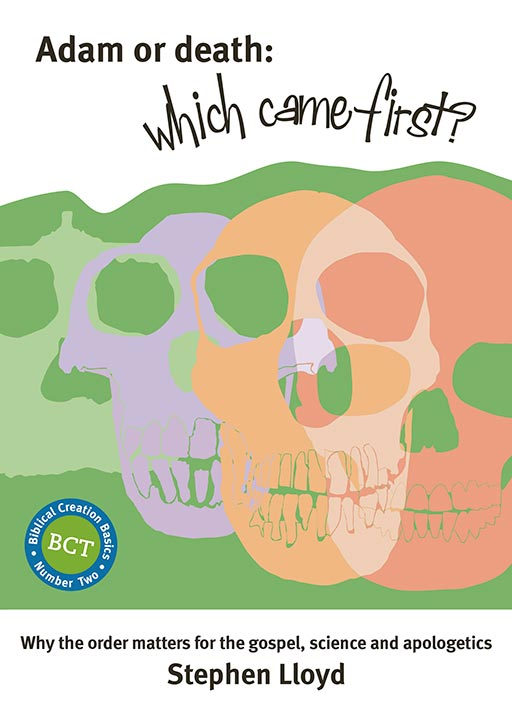 picture of front cover of new booklet 'Adam or death: which came first?