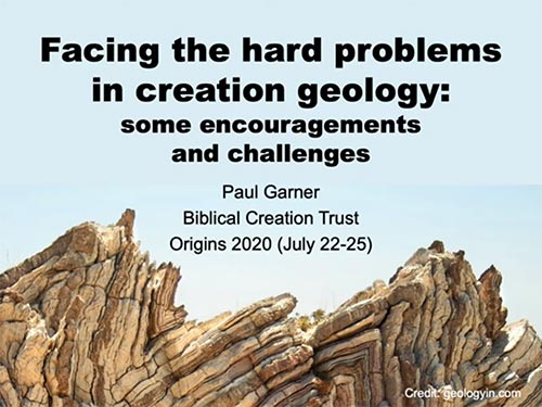 Hard problems in creation geology.