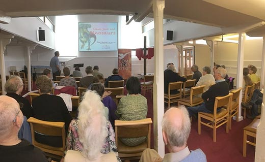 photo of Paul Garner speaking at Chinnor Community Church in Oxfordshire